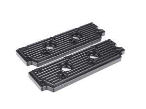 ES#2840160 - M13BLK - 993 Billet Aluminum Upper Valve Cover Pair - Black - Stop oil leaks dead in their tracks and look great doing it - Rennline - Porsche