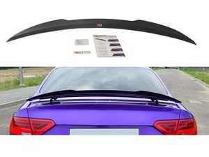 ES#3662253 - AU-RS5-1F-CAP1G - Rear Trunk Spoiler Cap - Gloss Black  - Add aggressive looks to your Audi with this quality ABS trunk spoiler - Maxton Design - Audi