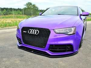 ES#3491627 - AU-RS5F-1-FD1GL - Front Splitter - Gloss Black  - Transform the look of your vehicle - Maxton Design - Audi