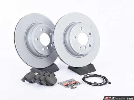 ES#4056674 - 34216876422KT - Rear Brake Service Kit - Featuring Zimmermann rotors and Pagid pads - Assembled By ECS - BMW