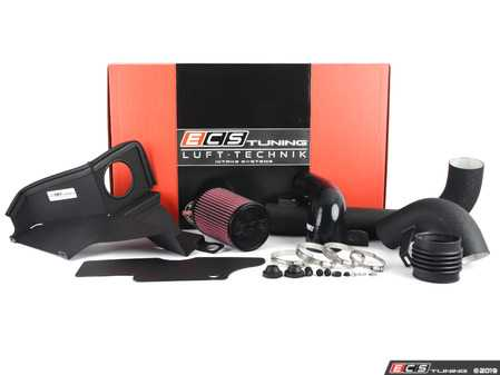 "ES#2981595 - 004527ECS01-02 -  Luft-Technik Intake System - With Aluminum Heat Shield & Wrinkle Black Aluminum Tubes - In House Engineered ""Air Technology"" for maximum performance and stunning aesthetics - ECS - Audi Volkswagen"