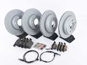 ES#3610539 - 34106799801KT1 - Front & Rear Brake Service Kit - Featuring Zimmermann rotors and Textar pads - Assembled By ECS - BMW