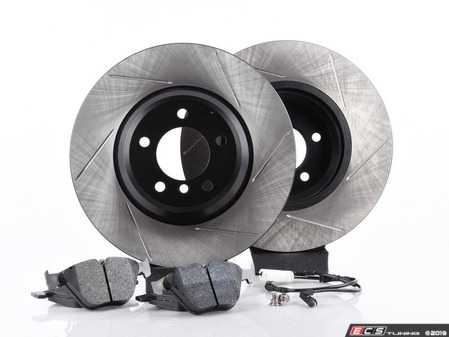 ES#3537199 - 025997ECS093KT7 - Performance Front & Rear Brake Service Kit - Featuring ECS V4 slotted rotors and Hawk HPS pads - Assembled By ECS - BMW