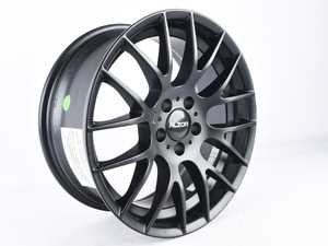 """ES#3663878 - 030-9sd12a - 18"""" Style 030 - Single Wheel - *Scratch And Dent* - *Please see description prior to ordering* 18x8, ET35, 5x112, 72.6CB Matte Black - Alzor - Audi Volkswagen"""