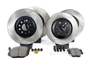 Stoptech 938.33520 Street Axle Pack Drilled /& Slotted Rear