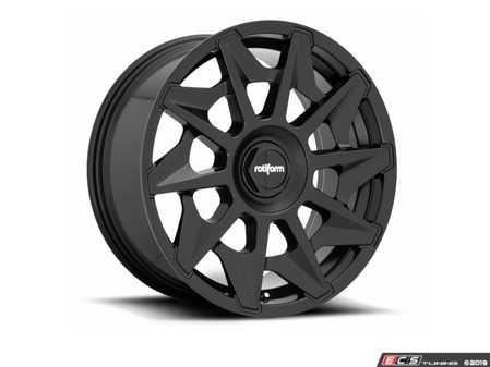 """ES#3672072 - r129208514KT1 - 20"""" CVT - Set Of Four - 20""""x8.5"""", ET45, 5x112/5x100 - Matte Black Finish - Rotiform - Audi Volkswagen"""