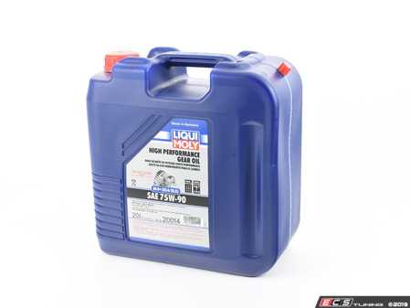 ES#3660870 - 20014 - High Performance Gear Oil (GL4+) SAE 75W-90 (20L JUG) - Liqui-Moly -