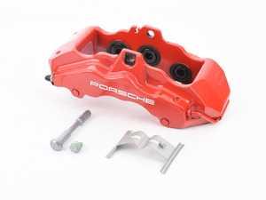 ES#1499335 - 99735143110 - Front Brake Caliper - Red - Left side fitment - Genuine Porsche - Porsche
