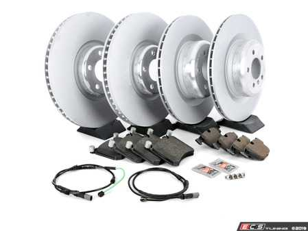 ES#3478032 - 341167890KT2 - Front And Rear Brake Service Kit - Featuring Genuine BMW rotors with Pagid pads - Assembled By ECS - BMW