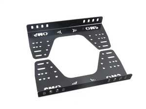 ES#3192061 - HC/922 - Steel low brackets - 16 holes | Black - Mount your OMP racing seat with confidence! - OMP - BMW MINI