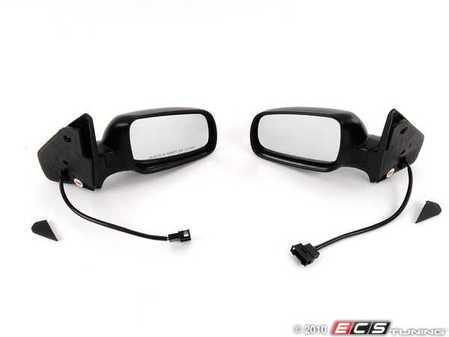 ES#2130381 - 1j1898141 - Matte Black Mirror Set  - Complete replacement mirrors for your MKIV with a matte black finish - Assembled By ECS - Volkswagen