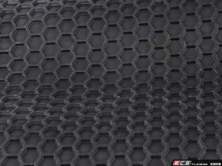 ES#3674821 - RT611BKRR - Hexomat Rear Floor Mats - The plate frame that displays your BAVauto enthusiasm. - Bavarian Autosport - BMW