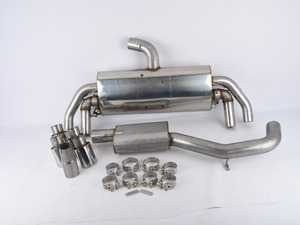 """ES#3675554 - SSXAU577sd - Cat-Back Exhaust System - Resonated - *Scratch And Dent* - *Please see description prior to ordering* 3"""" stainless steel with quad oval polished tips - Milltek Sport - Audi"""
