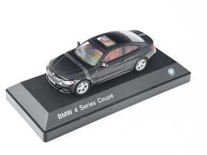 ES#2805400 - 80422318856 - 1:43 BMW 4-Series Coupe Scale Model - Black - A perfect addition to any enthusiast's die-cast collection - Genuine BMW - BMW