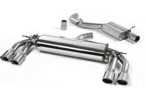 """ES#3129650 - SSXAU577 - Cat-Back Exhaust System - Resonated - 3"""" stainless steel with quad oval polished tips - Milltek Sport - Audi"""