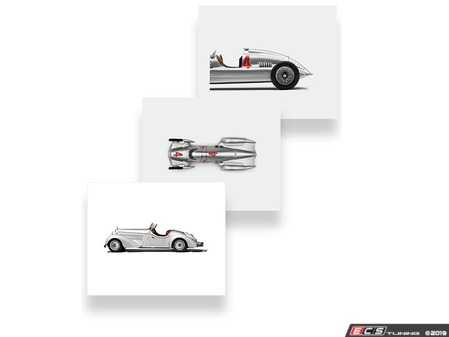 ES#3554883 - ACML850 - Audi Heritage Canvas Art Set - An Audi collection exclusive, this Heritage Canvas Art Set is a great statement piece for any room. - Genuine Volkswagen Audi - Audi