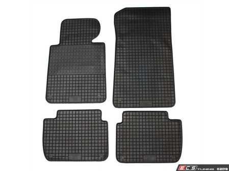 ES#3672495 - 16310 - All-Weather Floor Mats - Set of 4  - Black, Rubber floor mat set - Bavarian Autosport - BMW