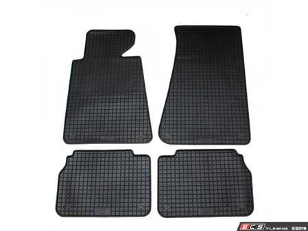 ES#3672491 - 16110 - All-Weather Floor Mats - Set of 4  - Black, Rubber floor mat set - Bavarian Autosport - BMW
