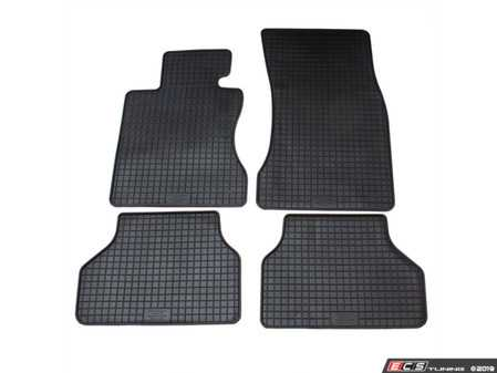 ES#3672499 - 16510 - All-Weather Floor Mat Set - Complete set of front and rear floor mats, Black. - Bavarian Autosport - BMW