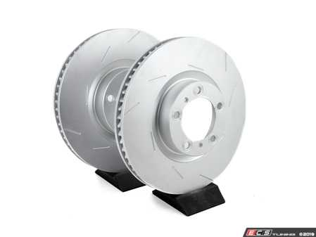 ES#3675492 - 97035140300KT2 - 970 Panamera Front Brake Rotor and Pad Service Kit - Featuring Meyle Coated Rotors and Bosch Quiet Cast Brake Pads - Assembled By ECS - Porsche
