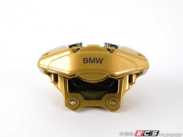 ES#2137037 - 34216786743 - Rear BMW Performance Caliper - Left - Gold, featuring BMW - Genuine BMW - BMW