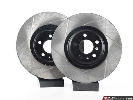 ES#3537754 - 025997ECS0623KT -  Front V4 Slotted Brake Rotors - Pair (345x30) - Precision manufactured and featuring an electrostatic rust-inhibiting coating - ECS - Audi