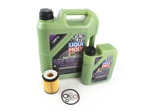ES#3678231 - 2701800109KT2 - CLA250 / CLA45 Oil Change Kit (5w-40) - Everything needed to perform an oil service - Featuring Liqui-Moly Molygen New Generation Engine Oil & a Hengst Filter - Assembled By ECS - Mercedes Benz