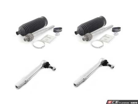 ES#3690666 - 99634713104KT4 - Tie Rod Service Kit - Inner, Outer Tie Rods with Clamps and Boots - All Genuine Porsche Components - Genuine Porsche - Porsche