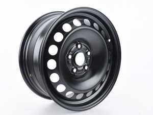 "ES#2679278 - 3C0601027BR03C - 16"" Steel Wheel - Priced Each - 16""x7.0"" ET45 5x112 - Rally Black - Genuine Volkswagen Audi -"
