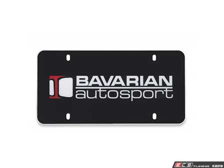 ES#3674571 - LP300/4USBAS - License Plate - Bavarian Autosport Logo - Great enthusiast detailing for your front plate mount - Bavarian Autosport - BMW MINI