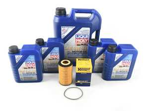 ES#3690674 - 99610722553KT22 - ECS Oil Service Kit - 5w-40 - Featuring A40 Approved Liqui-Moly Leichtlauf High Tech Engine Oil and a Hengst Filter - Assembled By ECS - Porsche