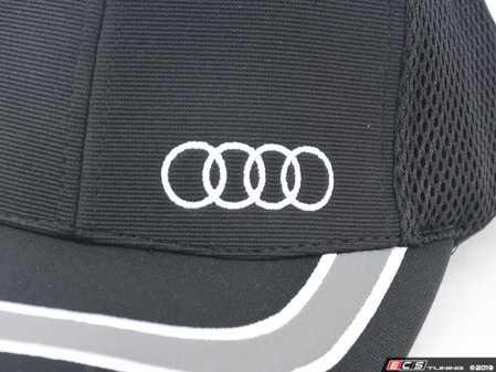 ES#3232606 - ACM4487 - Ottoman Sandwich Mesh Cap - (NO LONGER AVAILABLE) - Features mesh material for breathability - Genuine Volkswagen Audi -