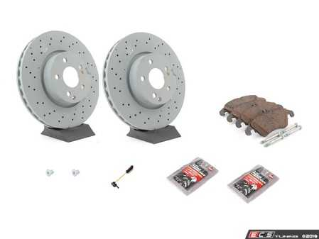 ES#3690839 - 0004213012KT3 - Front Brake Service Kit (322mm x 32mm Rotors) - All Genuine Mercedes-Benz Components to service both front axles - Genuine Mercedes Benz - Mercedes Benz