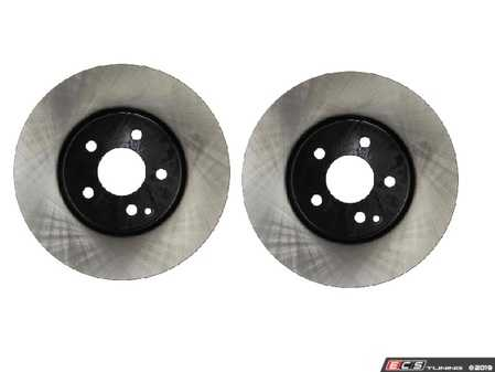 ES#3690856 - 000421121207KT2 - Front Brake Rotors - Pair - Includes left and right front brake rotors - OP Parts - Mercedes Benz
