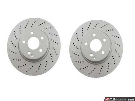 ES#3690857 - 000421111207KT2 - Front Brake Rotors - Pair (322x32) - Includes left and right front brake rotors - Meyle - Mercedes Benz