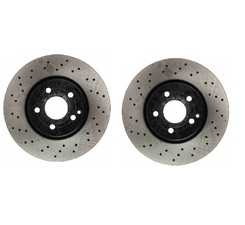 ES#3690858 - 000421111207KT3 - Front Brake Rotors - Pair (322x32) - Includes left and right front brake rotors - OP Parts - Mercedes Benz