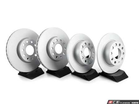 ES#2848084 - 8v0698151dBKT - Front and Rear Brake Service Kit - Featuring Meyle rotors and EBC Ultimax brake pads - Assembled By ECS - Volkswagen