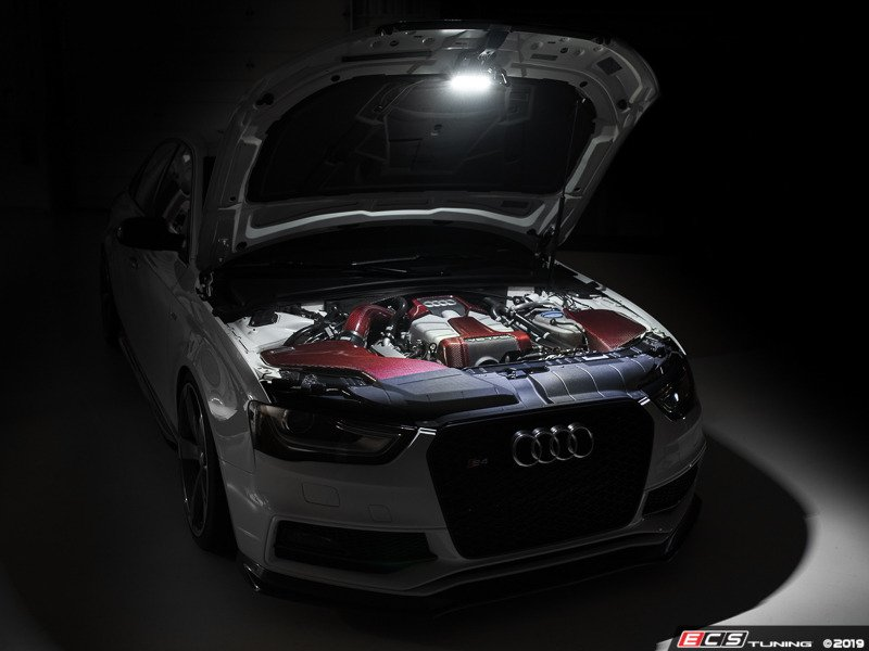 Ecs News New Audi B8 Chis Engine Bay Lighting