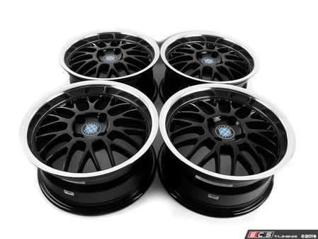 "ES#3677751 - 4x100beymeshKT - 15"" Beyern Mesh Square Wheel Set - Black With Machined Lip - Classic German tuner styling from an original aftermarket wheel manufacturer. 15x7"" ET27. - Beyern Wheels - BMW"