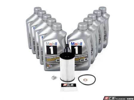 ES#3691046 - 2761800009KT4 - Mercedes-Benz V8 M278 Oil Change Kit - 0w-40 - Featuring Mobil 1 0W-40 Engine Oil - Mercedes-Benz Oil Spec 229.5 Approved - Assembled By ECS - Mercedes Benz