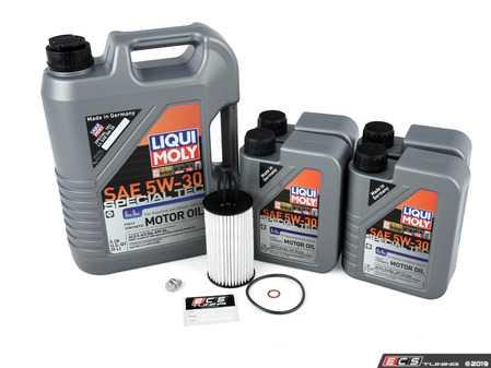 ES#3691045 - 2761800009KT3 - Mercedes-Benz V8 M278 Oil Change Kit - 5w-30 - Featuring Liqui-Moly Special Tec LL 5W-30 Motor Oil - Mercedes-Benz Oil Spec 229.5 Approved. Kit has Hengst Filter - Assembled By ECS - Mercedes Benz