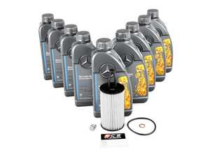 ES#3691043 - 2761800009KT1 - Mercedes-Benz V8 M278 Oil Change Kit - 5w-40 - All Genuine Mercedes-Benz Component Kit - Utilizing Mercedes-Benz Oil Spec 229.5 5w-40 Engine Oil - Genuine Mercedes Benz - Mercedes Benz