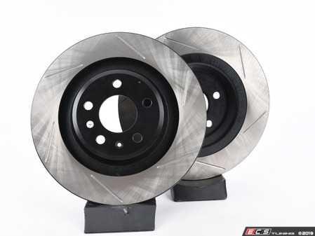 ES#3538305 - 025997ECS0641KT - Performance Rear Brake Service Kit - Featuring ECS V4 Slotted rotors and Hawk HPS pads - Assembled By ECS - Audi