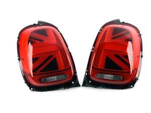 ES#3672087 - HMINI14TL-R2 - MINI Cooper Union Jack Led Taillights F56 F55 F57 - Set (Factory LED)** - Upgrade to Union Jack design tail lights for your MINI - Helix - MINI