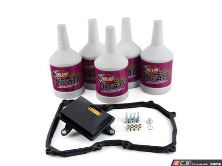 ES#3184705 - 09G325429EKT1 -  6 - Speed automatic transmission service kit - without Service Tool - Includes Redline D6 fluid, filter and a pan gasket for a complete service. - Assembled By ECS - Volkswagen