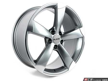 "ES#2724026 - 628-9kt1 - 19"" Style 628 Wheels - Set Of Four - 19""x8.5"" ET35 5x112 - Gunmetal/Machined Face - Alzor - Audi Volkswagen"