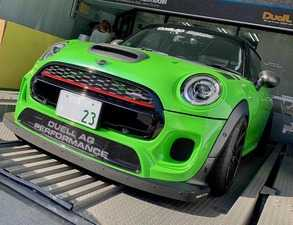 ES#3691269 - F56FB3.22PCFJCW - Duell AG F55-F57 Krone Edition V3.22 JCW Front Bumper - FRP/ Partial Carbon Fiber - Straight from Japan aggressive front bumper cover that has an import tuner design - Duell Ag - MINI