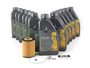 ES#3691207 - 6421800009KT5 -  OM642 Sprinter V6 Diesel Oil Change Kit - 5w-30 - Featuring all Genuine Mercedes-Benz components - 13 Liters of Low-Ash 5w-30 MB 229.52 Oil - Genuine Mercedes Benz - Mercedes Benz