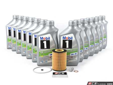 ES#3691209 - 6421800009KT7 -  OM642 Sprinter V6 Diesel Oil Change Kit - 5w-30 - Featuring 13 Liters of MB 229.52 Approved Mobil 1 ESP - Low-Ash 5w-30 Engine Oil - Assembled By ECS - Mercedes Benz