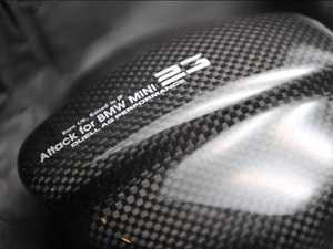 ES#3691470 - F56FCMAAY - Duell AG F55-F57 Carbon Fiber Fuel Door Cover - Matte/Ayaori (Twill Carbon Fiber Weave) - Straight from Japan aggressive Carbon Fiber Cover that goes over the fuel door: Aggressive angled Carbon Weave/Matte finish - Duell Ag - MINI